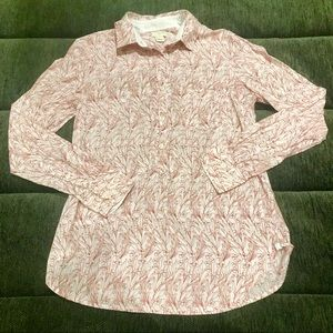 J. Crew Printed Popover Shirt
